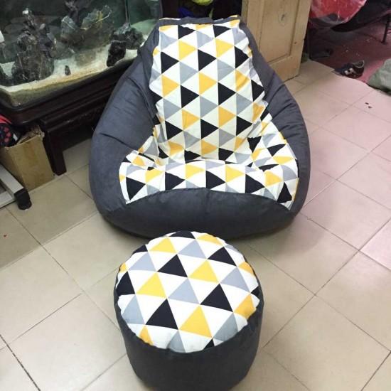 ghế lười hạt xốp hình quả lê L04