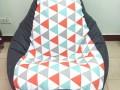 ghế lười hạt xốp hoa văn hình tam giác