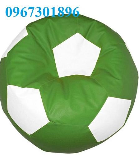 Ghế lười hạt xốp hình quả bóng vải kaki