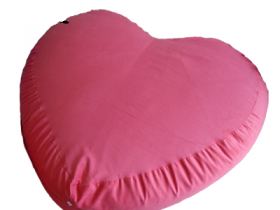 ghế lười hạt xốp hình trái tim-1