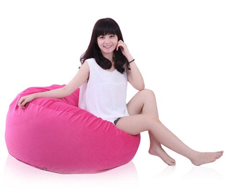ghế lười hạt xốp hình trụ size L