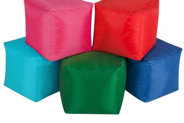 ghế lười hạt xốp hình vuông mang màu sắc mới