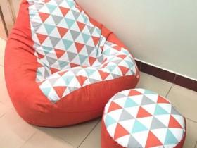 Bộ ghế lười hạt xốp hình quả lê -3