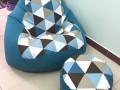 Bộ ghế lười hạt xốp hình quả lê -4