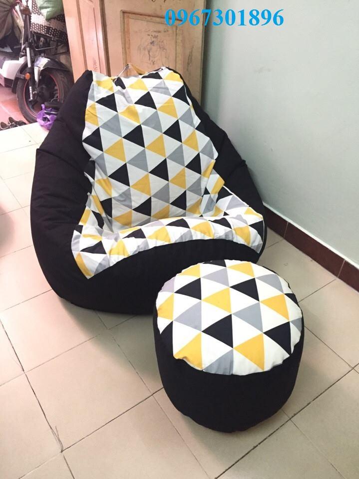 Bộ ghế lười hạt xốp hình quả lê