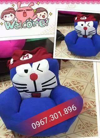 ghế lười thú bông hình doremon