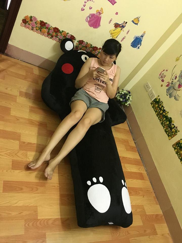 giường lười sofa đơn hình Kumamon