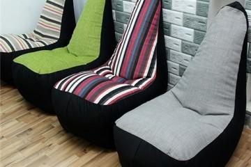 Ghế lười hạt xốp dáng sofa – nội thất độc đáo cho căn phòng
