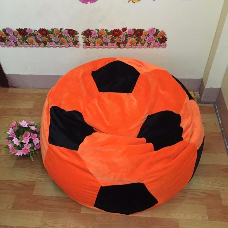 ghế lười hạt xốp hình quả bóng cam