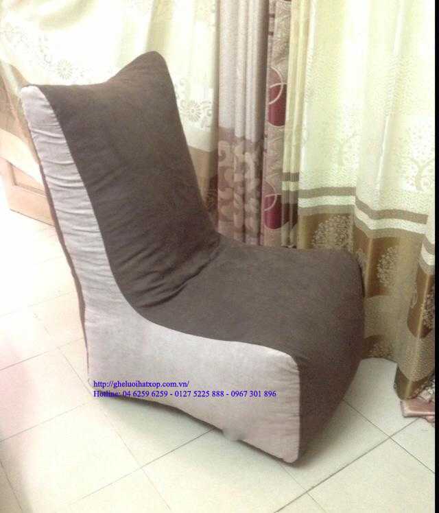 ghế lười hạt xốp dáng sofa 2