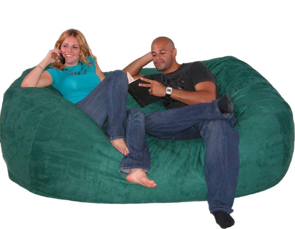 ghế lười hạt xốp hình oval