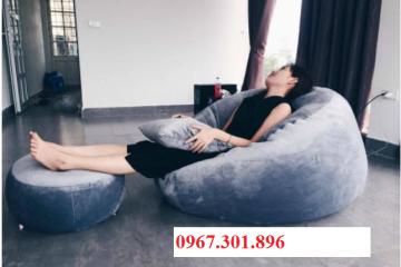 Ghế lười hạt xốp hình trụ – nội thất tiện nghi