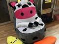 Ghế lười hạt xốp dáng sofa bò sữa S