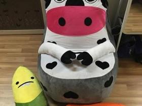 Ghế lười hạt xốp dáng sofa con bò