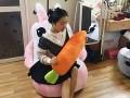 Ghế lười hạt xốp dáng sofa con thỏ S
