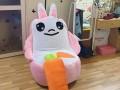 Ghế lười hạt xốp dáng sofa con thỏ hồng