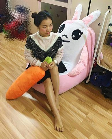 Ghế lười hạt xốp dáng sofa con thỏ size S