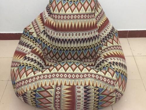 Ghế lười hạt xốp hình quả lê G02 gấm