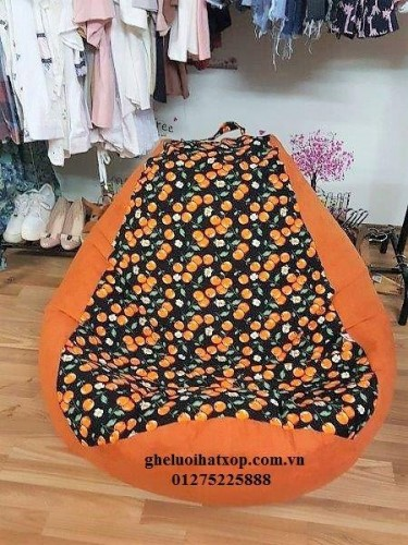 Ghế lười hạt xốp dáng lê cotton GL021