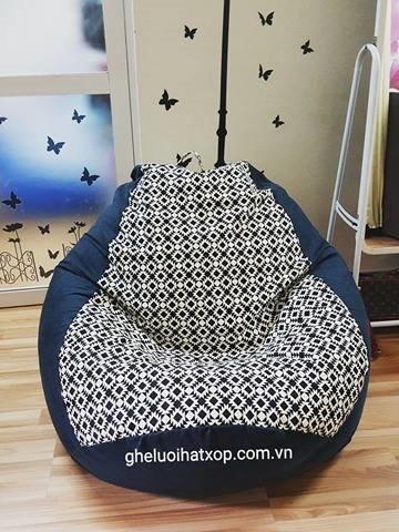 ghế lười dáng lê ô vuông đen L (3)