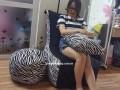 Ghế lười hạt xốp dáng sofa đơn vằn GL SF003 (4)