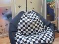 Ghế lười xốp hình quả lê GL L051 cotton họa tiết (4)