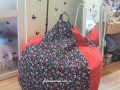 Ghế xốp lười dáng lê cotton họa tiết GL L052 (2)