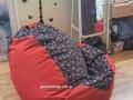 Ghế xốp lười dáng lê cotton họa tiết GL L052 (3)
