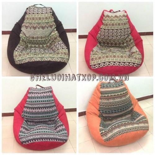 Mẫu ghế lười hạt xốp dáng lê mới