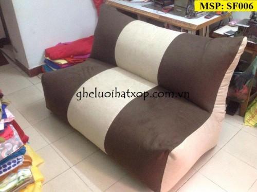 Ghế lười hạt xốp dáng sofa đôi (3)
