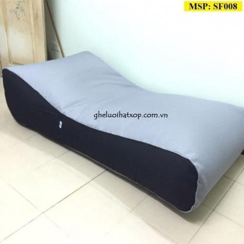 Ghế lười hạt xốp dáng sofa kiểu giường nằm SF008 (1)