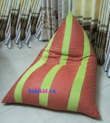 Ghế lười hạt xốp dáng thuyền chất liệu kaki GL T010 (4)