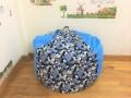 Ghế lười xốp quả lê xanh họa tiết GL L072 (1)