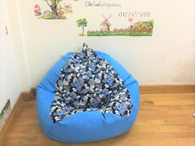 Ghế lười xốp quả lê xanh họa tiết GL L072 (6)