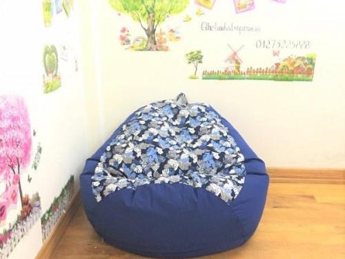 Ghế xốp dáng lê cotton pha tím than GL L076 (5)