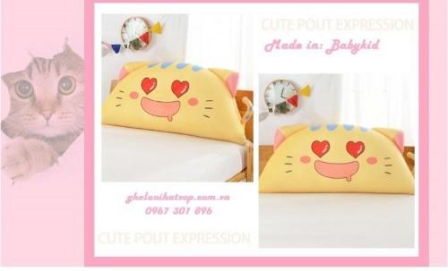 Gối tựa đầu giường Cat Love GĐ01 (1)