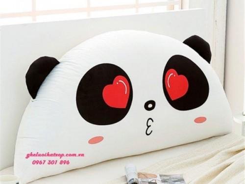 Gối tựa đầu giường Panda Love dễ thương GĐ011 (1)