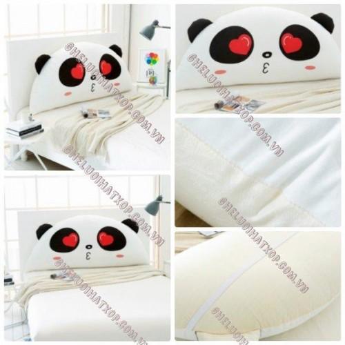 Gối tựa đầu giường Panda Love dễ thương GĐ011 (3)a