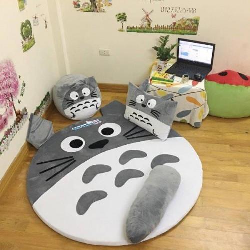 Ghế lười hình thú Totoro xám dễ thương GL046 (1)