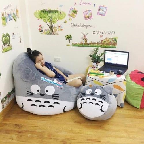 Ghế lười hình thú Totoro xám dễ thương GL046 (3)