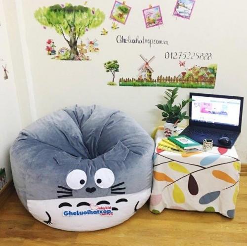 Ghế lười hình thú Totoro xám dễ thương GL046 (4)