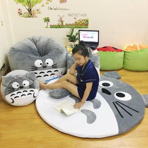 Ghế lười hình thú Totoro xám dễ thương GL046 (5)