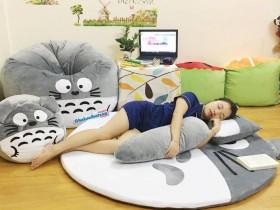 Ghế lười hình thú Totoro xám dễ thương GL046 (7)