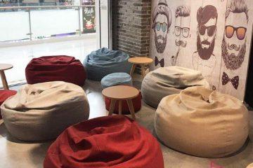 Xu hướng trang trí gối lười xốp cho quán cafe