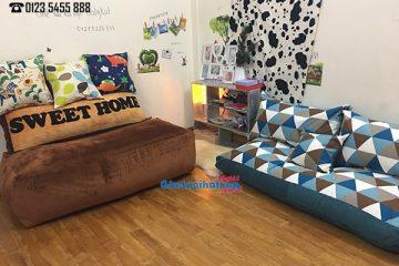 Cách set up nội thất phòng khách siêu đẹp cùng ghế lười Babykid.