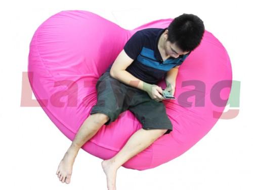 Ghế lười hạt xốp hình trái tim – L