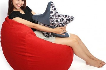 Ghế lười hạt xốp mang lại cảm giác thư giãn thoải mái