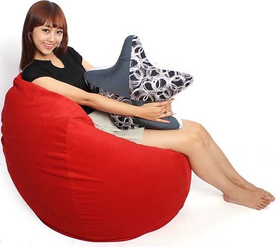 ghế lười hạt xốp hình giọt nước size L - 1