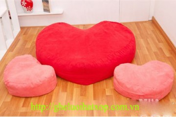 Ghế lười hạt xốp hình trái tim – món quà tặng ý nghĩa