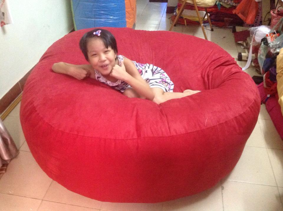 Ghế lười hạt xốp hình tròn size L